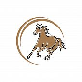 Horse Standing On Three Paws Icon, Horse Standing On Three Paws Icon Eps10, Horse Standing On Three  poster