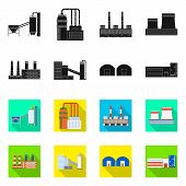 Isolated Object Of Production And Structure Icon. Collection Of Production And Technology Vector Ico poster