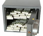 The bank safe full of dollar