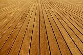 Piso de tablas de madera