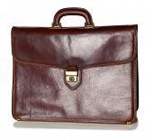 Old brown briefcase