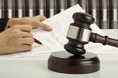 stock photo of court hammer  - Gavel - JPG
