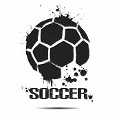 Soccer Ball Icon. Abstract Soccer Ball For Design Logo, Emblem, Label, Banner. Football Template On  poster