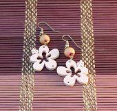 Wooden Pink Earrings