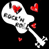 I love rock and roll, crazy doodle