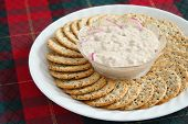 Crackers And Salmon Spread