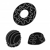 Vector Design Of Sweetness And Product Logo. Collection Of Sweetness And Sweet Stock Symbol For Web. poster