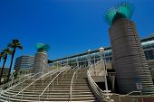 stock photo of long beach  - The Convention Center in the port of Long Beach California - JPG