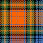 Murray Tartan Plaid. Scottish Pattern In Black, Orange, Blue And Green Cage. Scottish Cage. Traditio poster