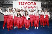 LONG BEACH, CA - APRIL 3: Kate Del Castillo with other celeb racers at the 36th Annual 2012 Toyota Pro/Celebrity Race - Press Practice Day on April 3, 2012 in Long Beach, California