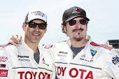 LONG BEACH, CA - APRIL 3: Eddie Cibrian, Kim Coates at the 36th Annual 2012 Toyota Pro/Celebrity Rac