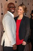 LOS ANGELES - APR 2:  Taye Diggs, KaDee Strickland arriving at the