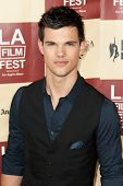 LOS ANGELES - JUNE 21: Taylor Lautner arrives at the Los Angeles Film festival premiere of 'A Better