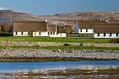 Irish cottage houses in Burren, Co. Clare