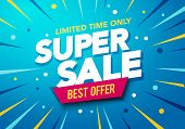 Vector Illustration Sale Banner Template Design, Big Sale Special Up To 50% Off. Super Sale, End Of  poster