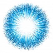 Blue light explosion. Rasterized version