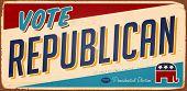 Signo metal voto Republicano Vintage - versión de la trama.