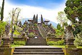 stock photo of saraswati  - Agung Besakih complex temple on Bali - JPG