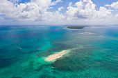 Naked Island, Siargao. The Island Of White Sand On The Atoll. Tourists Relax On The White Island. Se poster