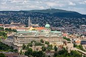 Aerial View At Budapest Royal Palace - Buda Castle - From Gellert Hill poster