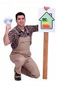 Housebuilder saving energy and money