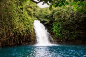 The Scenic Waterfalls On The African Island Mauritius poster