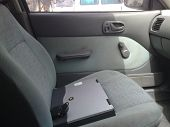 Laptop On Car Seat