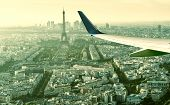Aerial Panoramic View Of Paris With The Eiffel Tower poster