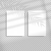 Transparent Shadow Overlay Effects For Branding. Blank Vertical Paper Sheet With Shadow Overlay. Sce poster