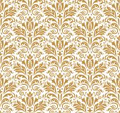 Floral Pattern. Vintage Wallpaper In The Baroque Style. Seamless Vector Background. White And Gold O poster
