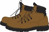 picture of work boots  - A pair of steel toe construction work boots - JPG