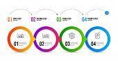 Money Diagram, Infographic Graph And Confirmed Line Icons Set. Timeline Infographic. Painting Brush  poster