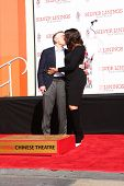 LOS ANGELES - FEB 4:  Robert DeNiro, Grace Hightower at the Robert DeNiro Handprint & Footprint Cere
