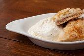 Fresh Baklava with Ice Cream
