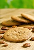 picture of pecan  - Delicious home made pecan cookies with whole pecan - JPG