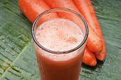 fresh healthy refreshing carrot juice