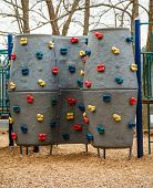 Climbing Wall In Children's Playground