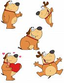 Different Fat Dogs Cartoon Mascot Characters