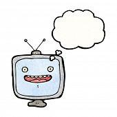 Постер, плакат: Мультфильм телевизор с лицом