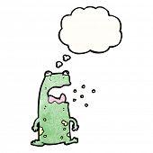 cartoon burping frog