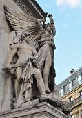 The sculpture of the winged goddess of Victory