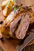 image of barbary duck  - duck roasted with quince - JPG