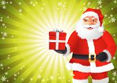 Santa Claus Hold The Gift