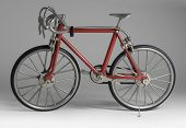 Model Of A Red Framed Bicycle