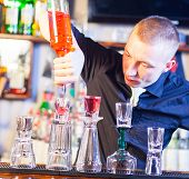 Barman Making Cocktail Drinks
