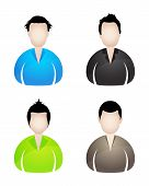 Four Businessman Icons