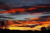 pic of pueblo  - Colorful Fall sunset in Pueblo, Colorado USA