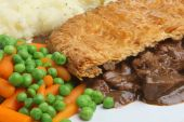 Steak Pie, Mash & Vegetables