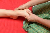 Traditional thai foot massage