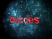 Business concept: Succes(french) on digital background